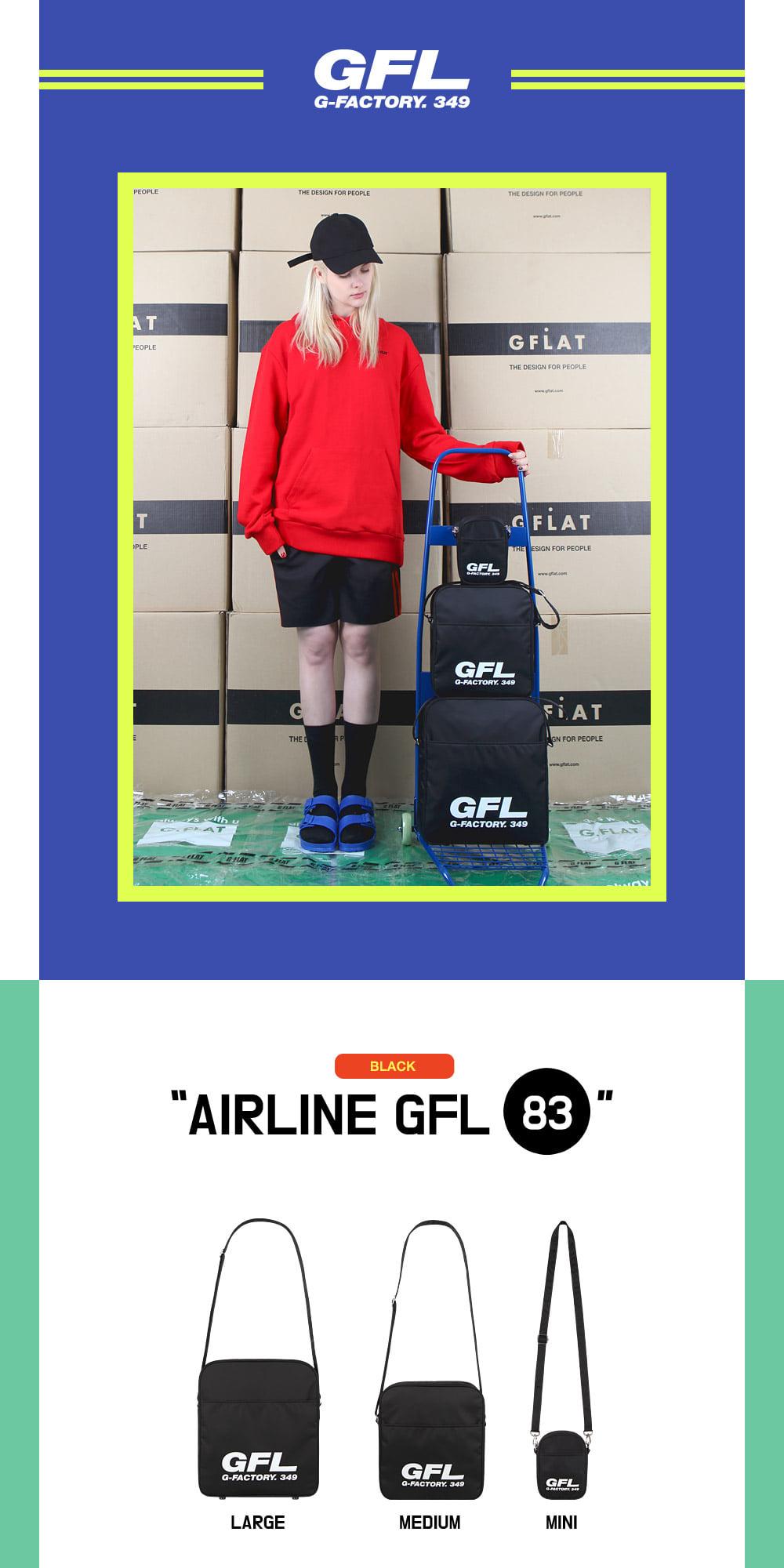 지플랫(G-FLAT) 에어라인 GFL 83 크로스백 mini (BLACK)