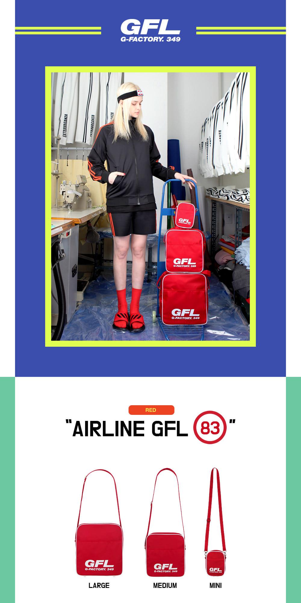 [지플랫] 에어라인 GFL 83 크로스백 L (RED)